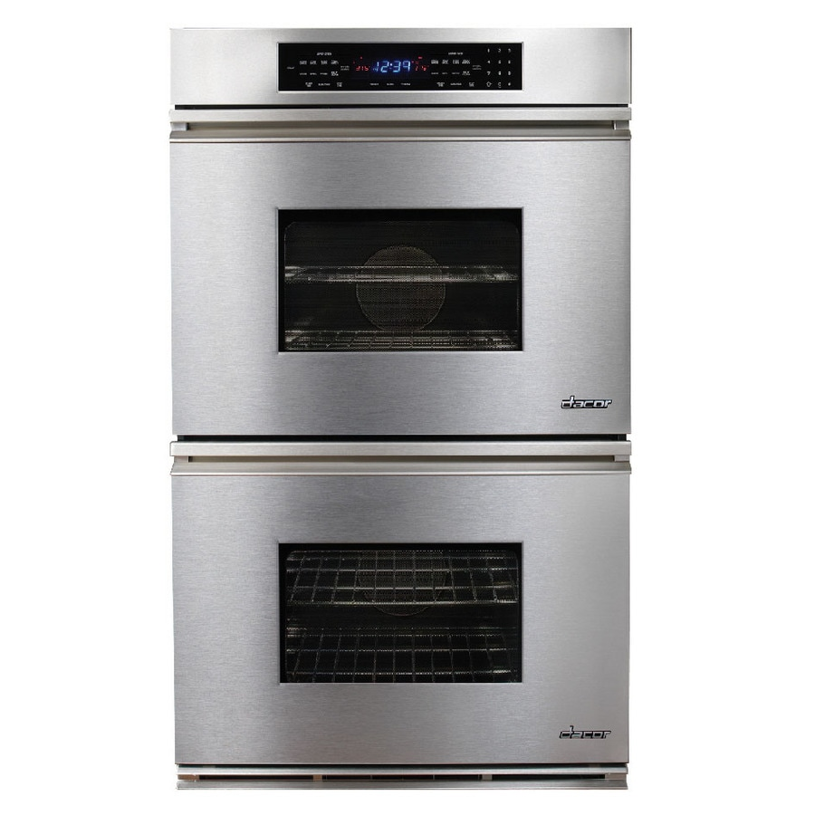 Dacor Convection Single-Fan Double Electric Wall Oven (Stainless Steel) (Common: 30-in; Actual: 29.87-in)