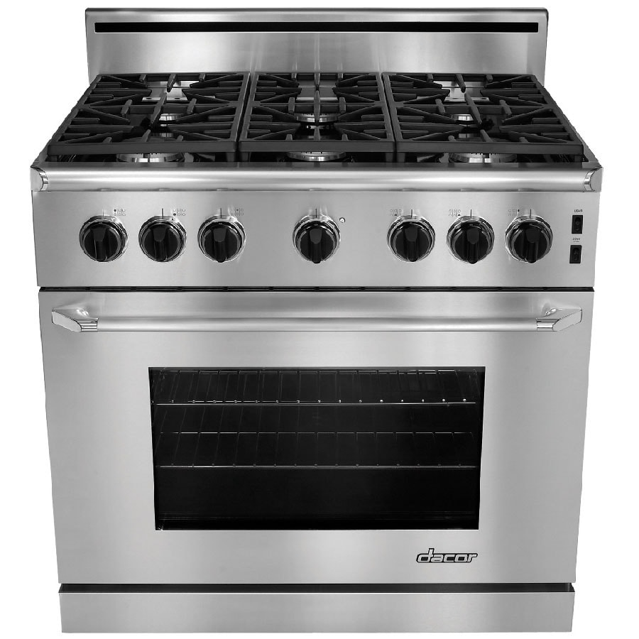 Dacor Renaissance 6 Burner Freestanding 5 4 Cu Ft Convection Gas Range Stainless Steel With Chrome Trim Common 36 Actual 35 87 In