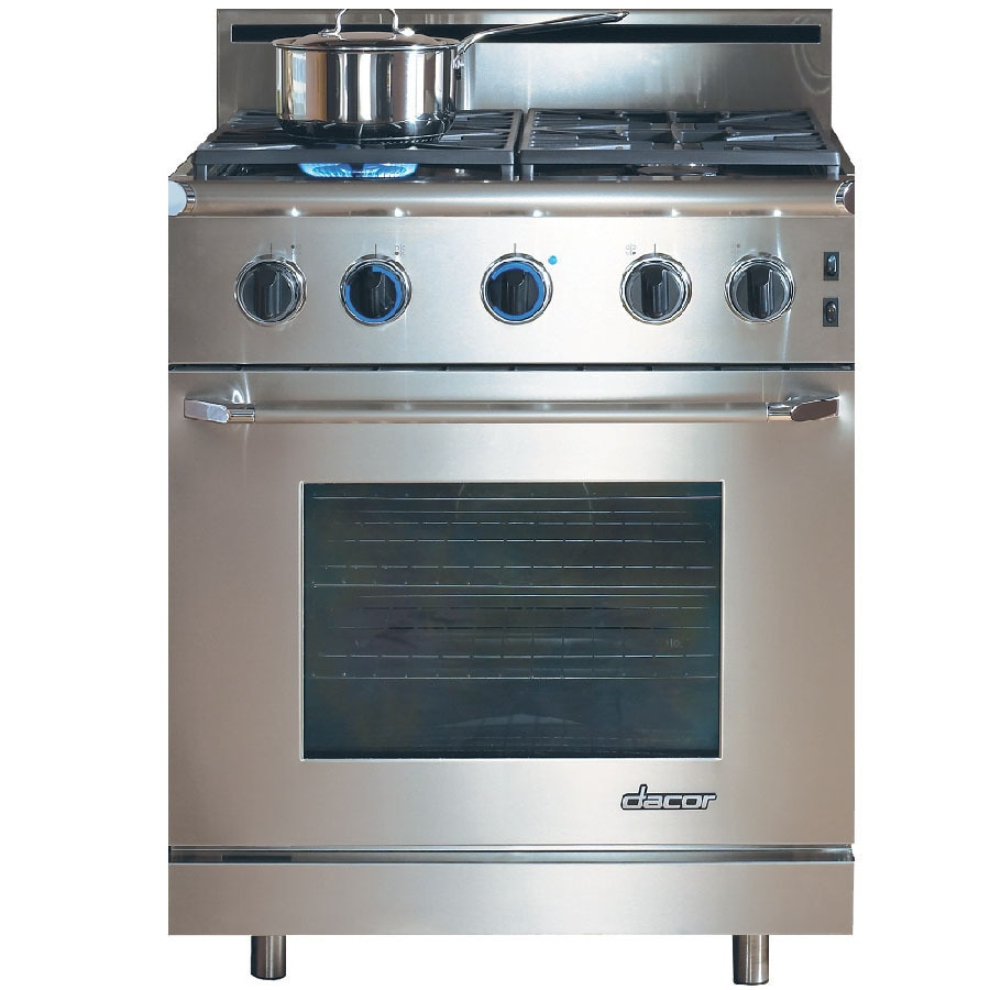 dacor renaissance 415cu ft slidein convection gas range stainless steel with
