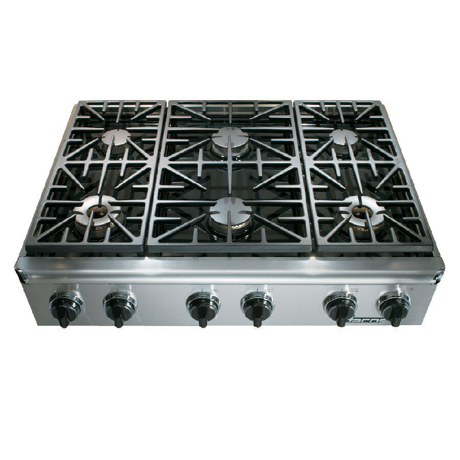 Shop dacor discovery 6 burner gas cooktop stainless steel for Dacor cooktop