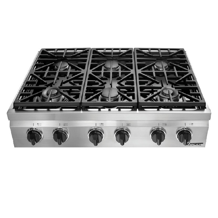 Shop dacor distinctive 6 burner gas cooktop stainless for Dacor cooktop