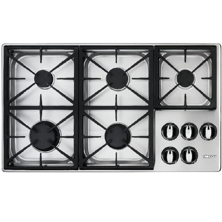 Lowes cooktops 36 inch - Dacor 36 Inch 5 Burner Gas Cooktop Color Stainless Steel
