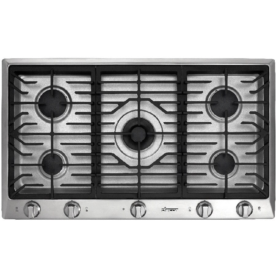 Lowes cooktops 36 inch - Dacor Distinctive 5 Burner Gas Cooktop Stainless Steel Common 36