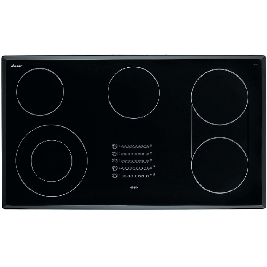 Dacor Discovery 5-Element Smooth Surface Electric Cooktop (Black) (Common: 36-in; Actual 36.25-in)