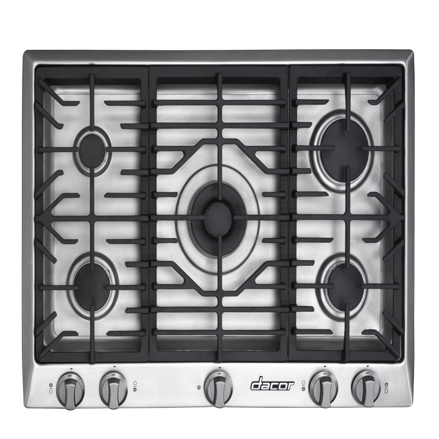 5 Burner Gas Cooktops: Shop Dacor Distinctive 5-Burner Gas Cooktop (Stainless
