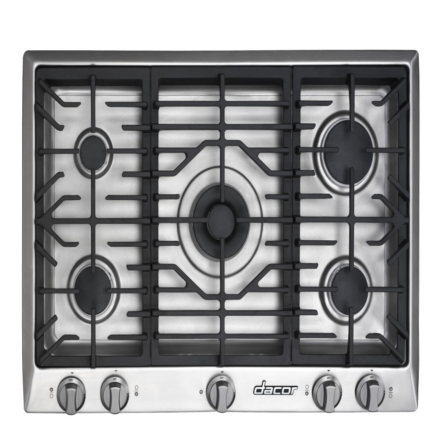 Dacor Distinctive 5-Burner Gas Cooktop (Stainless Steel) (Common: 30-in; Actual: 30-in)
