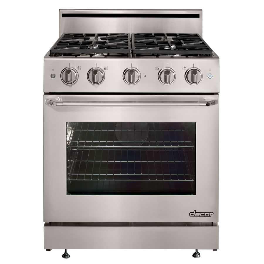 Dacor Distinctive Freestanding 4.8-cu ft Convection Gas Range (Stainless Steel with Chrome Trim) (Common: 30; Actual: 29.875-in)