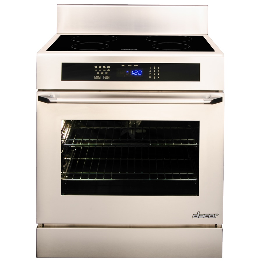 Dacor Renaissance 4.8-cu ft Self-Cleaning Freestanding Induction Range (Stainless Steel) (Common: 30-in; Actual 29.9375-in)