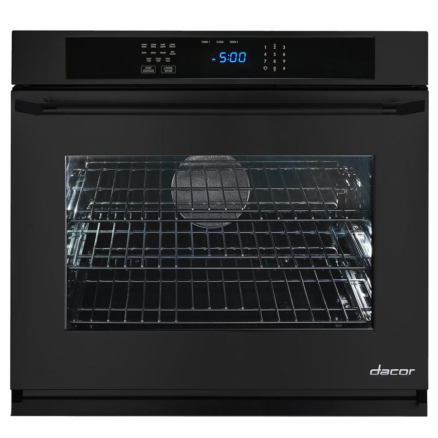 Dacor Renaissance Self-Cleaning Convection Single Electric Wall Oven (Black Glass) (Common: 27-in; Actual 27-in)