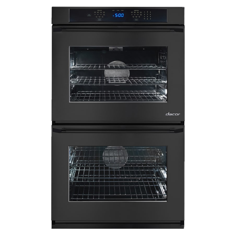 Dacor Renaissance Self-Cleaning Convection Single-Fan Double Electric Wall Oven (Black Glass) (Common: 30-in; Actual: 30-in)