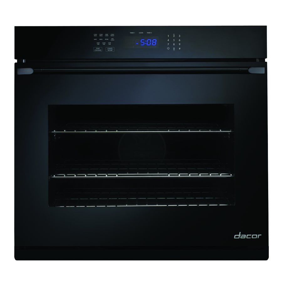 Dacor Distinctive Self-Cleaning Convection Single Electric Wall Oven (Black Glass) (Common: 30-in; Actual 30-in)