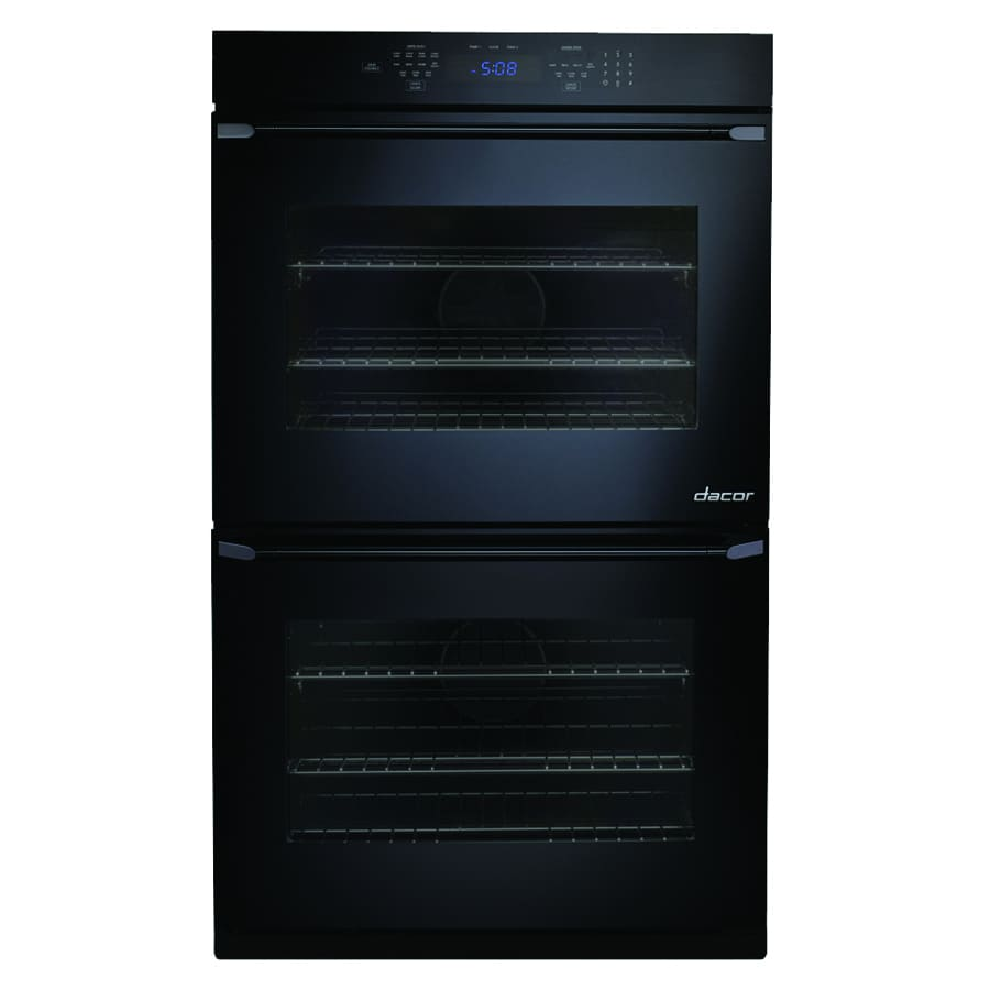Dacor Distinctive Self-Cleaning Convection Single-Fan Double Electric Wall Oven (Black Glass) (Common: 30-in; Actual: 30-in)