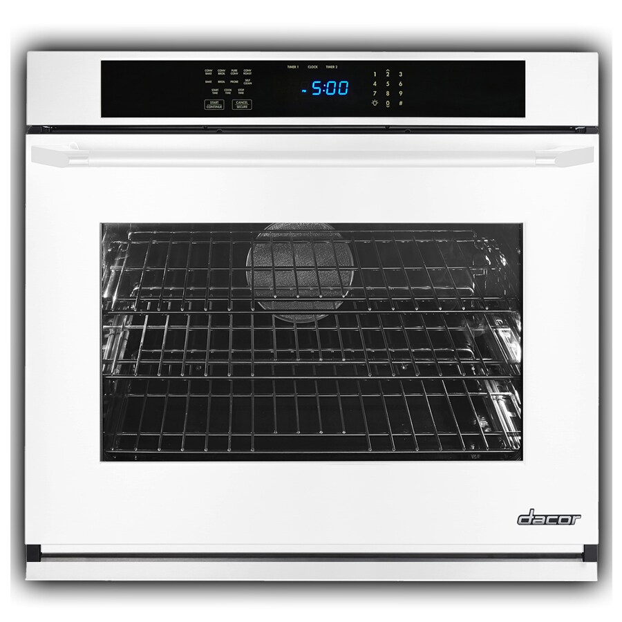 Dacor Renaissance Self-Cleaning Convection Single Electric Wall Oven (White Glass) (Common: 27-in; Actual 27-in)