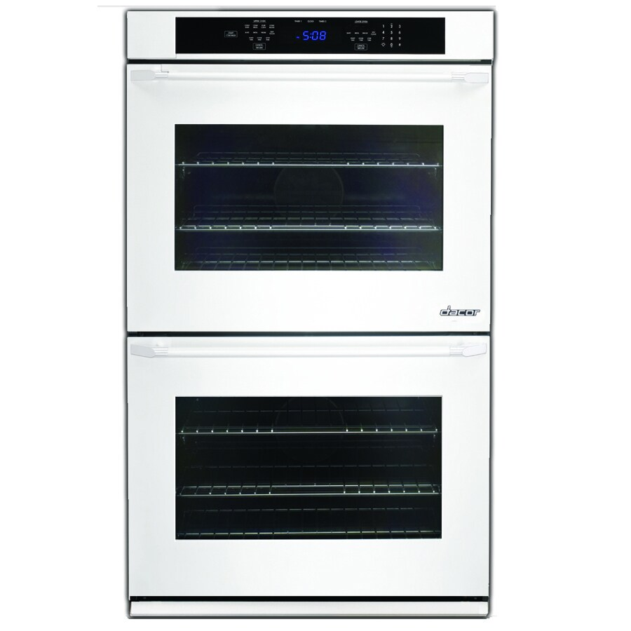 Dacor Distinctive Self-Cleaning Convection Single-Fan Double Electric Wall Oven (White Glass) (Common: 27-in; Actual: 27-in)