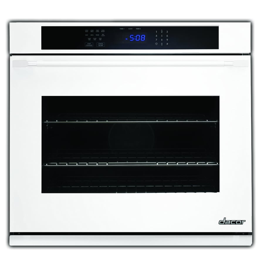 Dacor Distinctive Self-Cleaning Convection Single Electric Wall Oven (White Glass) (Common: 30-in; Actual 30-in)
