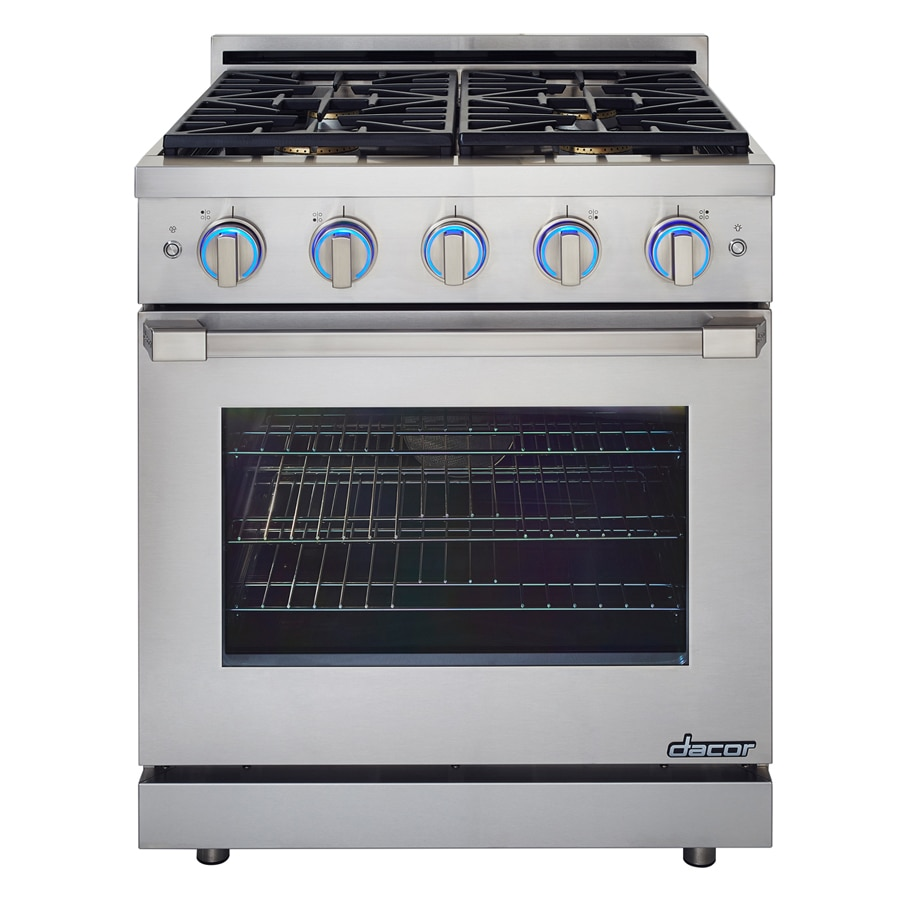 Dacor Renaissance Freestanding 5.2-cu ft Self-Cleaning Convection Gas Range (Stainless Steel) (Common: 30-in; Actual: 29.875-in)