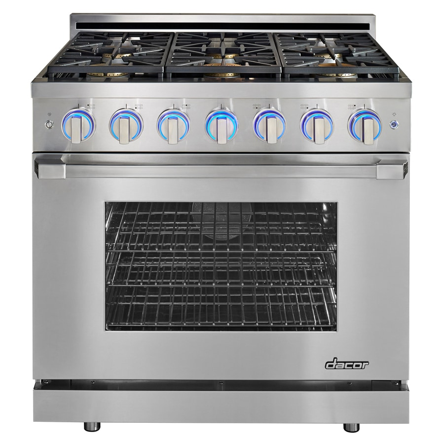 Dacor Renaissance 6-Burner Freestanding 5.2-cu ft Self-cleaning Convection Gas Range (Stainless Steel) (Common: 36-in; Actual: 35.875-in)
