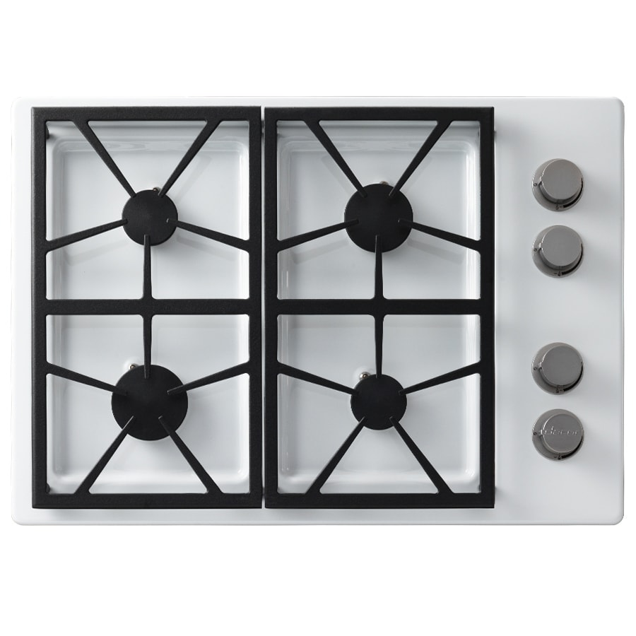 Dacor Distinctive 4-Burner Gas Cooktop (White) (Common: 30-in; Actual: 30-in)