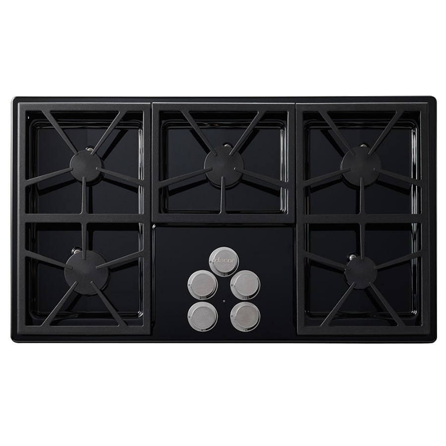 Dacor Distinctive 5-Burner Gas Cooktop (Black) (Common: 36-in; Actual: 36-in)