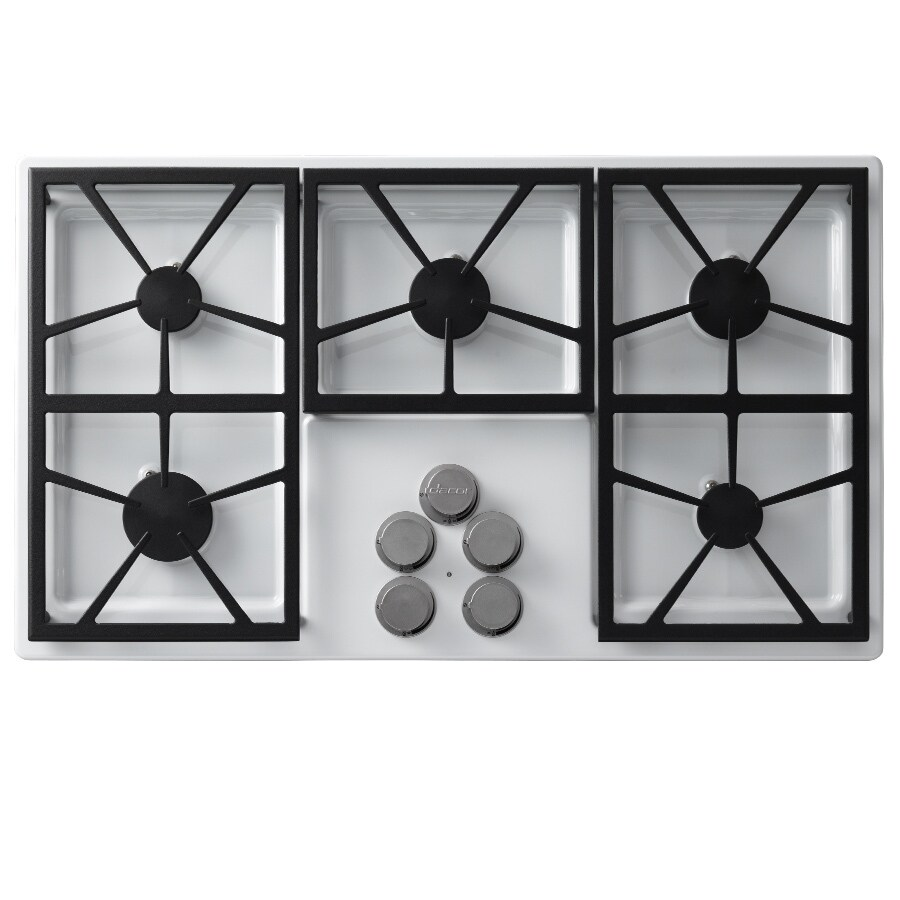 Dacor Distinctive 5-Burner Gas Cooktop (White) (Common: 36-in; Actual: 36-in)