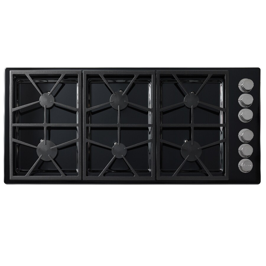 Shop dacor distinctive 6 burner gas cooktop black for Dacor cooktop