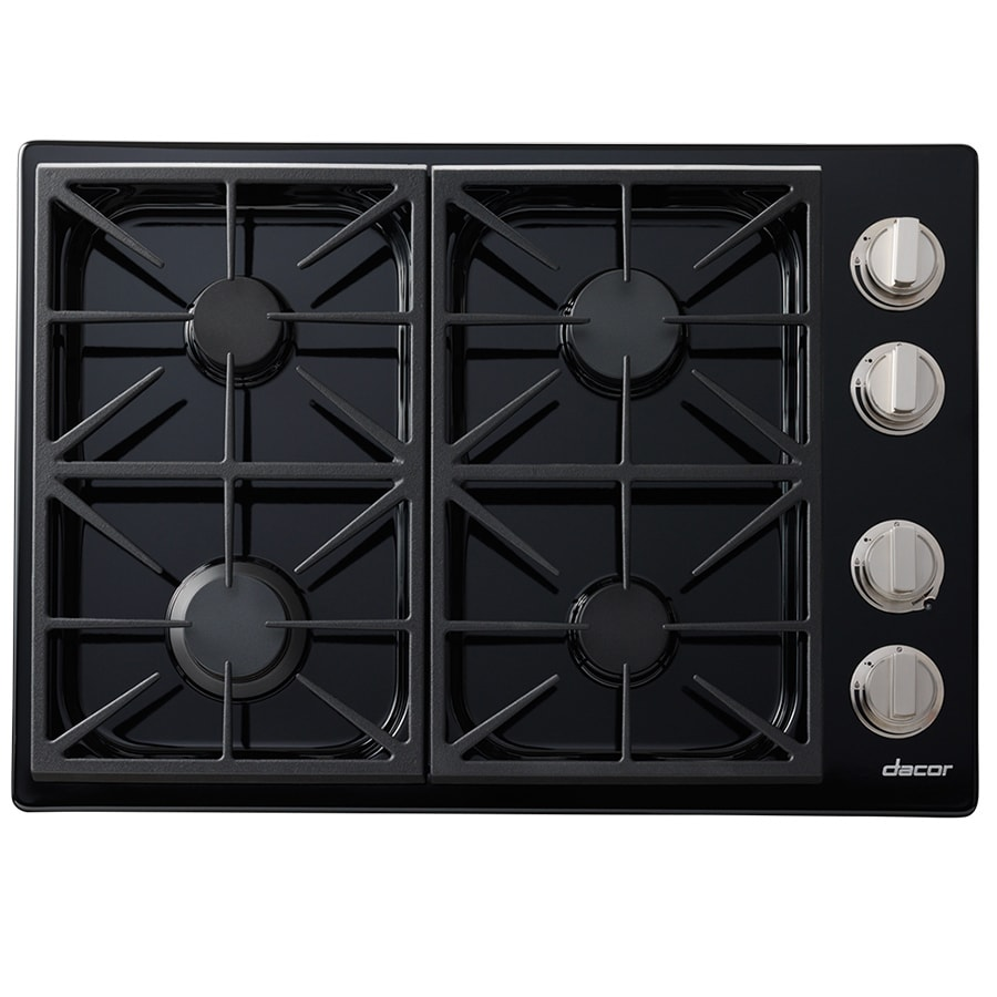 Shop dacor discovery gas cooktop black common 30 in for Dacor cooktop