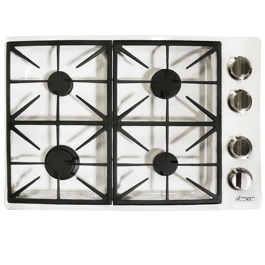 Shop dacor gas cooktop white common 30 in actual 30 for Dacor cooktop