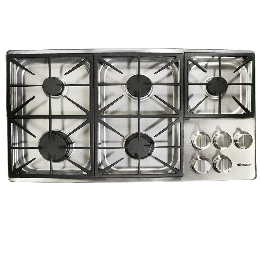5 Burner Gas Cooktops: Dacor 5-Burner Gas Cooktop (Stainless Steel) (Common: 36