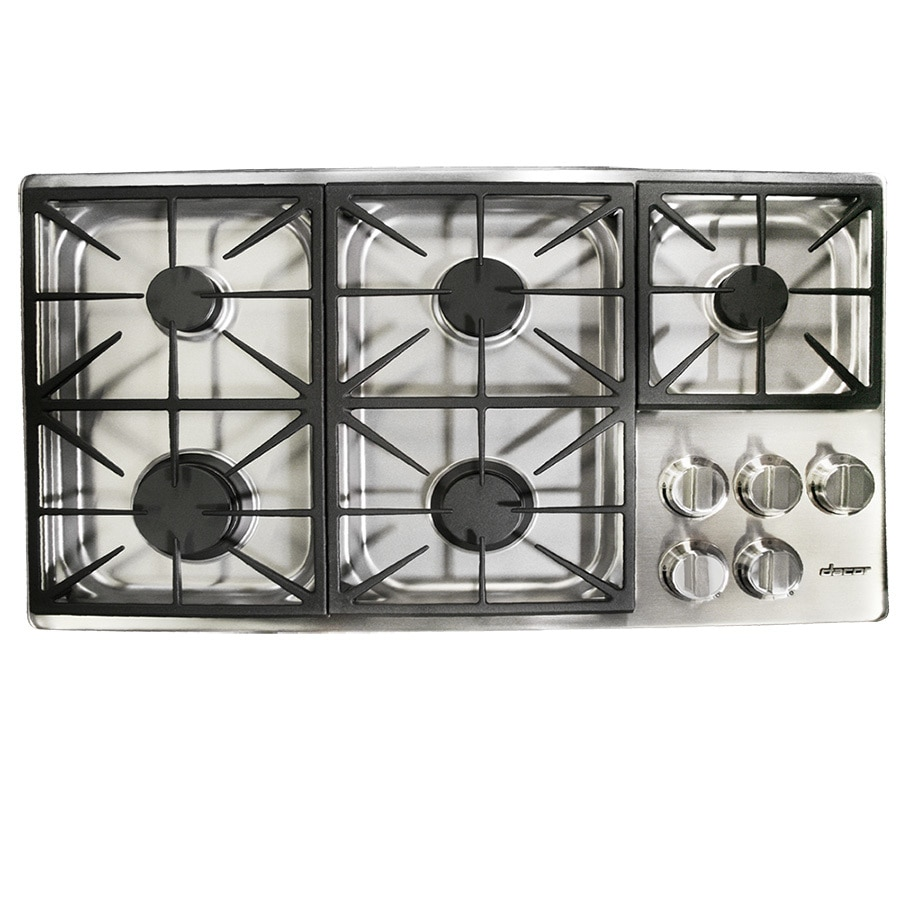 Dacor 5-Burner Gas Cooktop (Stainless Steel) (Common: 36-in; Actual: 36-in)