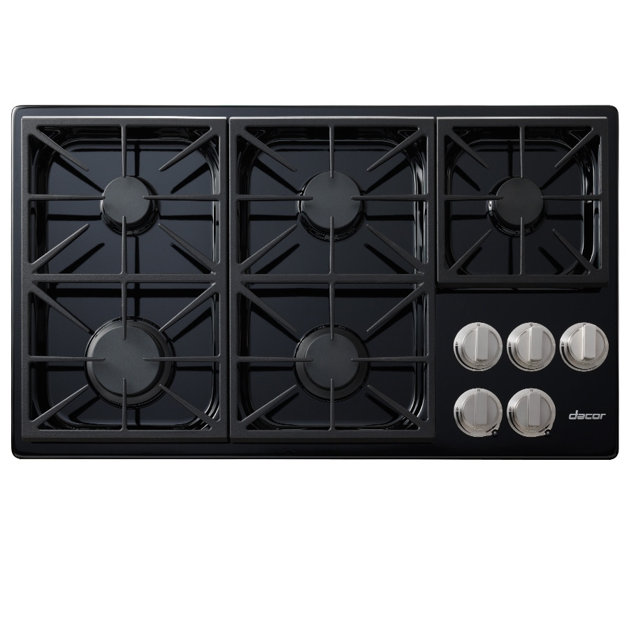 Shop dacor discovery 5 burner gas cooktop black common for Dacor cooktop