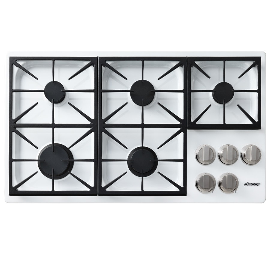 Shop dacor discovery 5 burner gas cooktop white common for Dacor cooktop