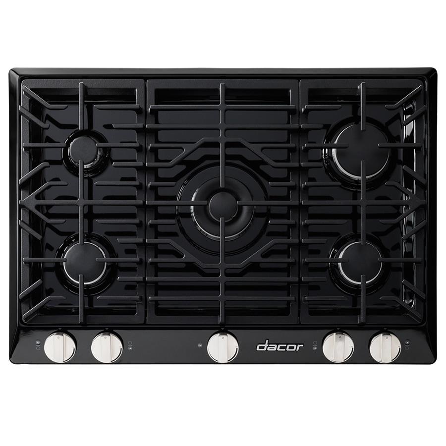 Dacor Renaissance 5-Burner Gas Cooktop (Black) (Common: 30-in; Actual: 30-in)