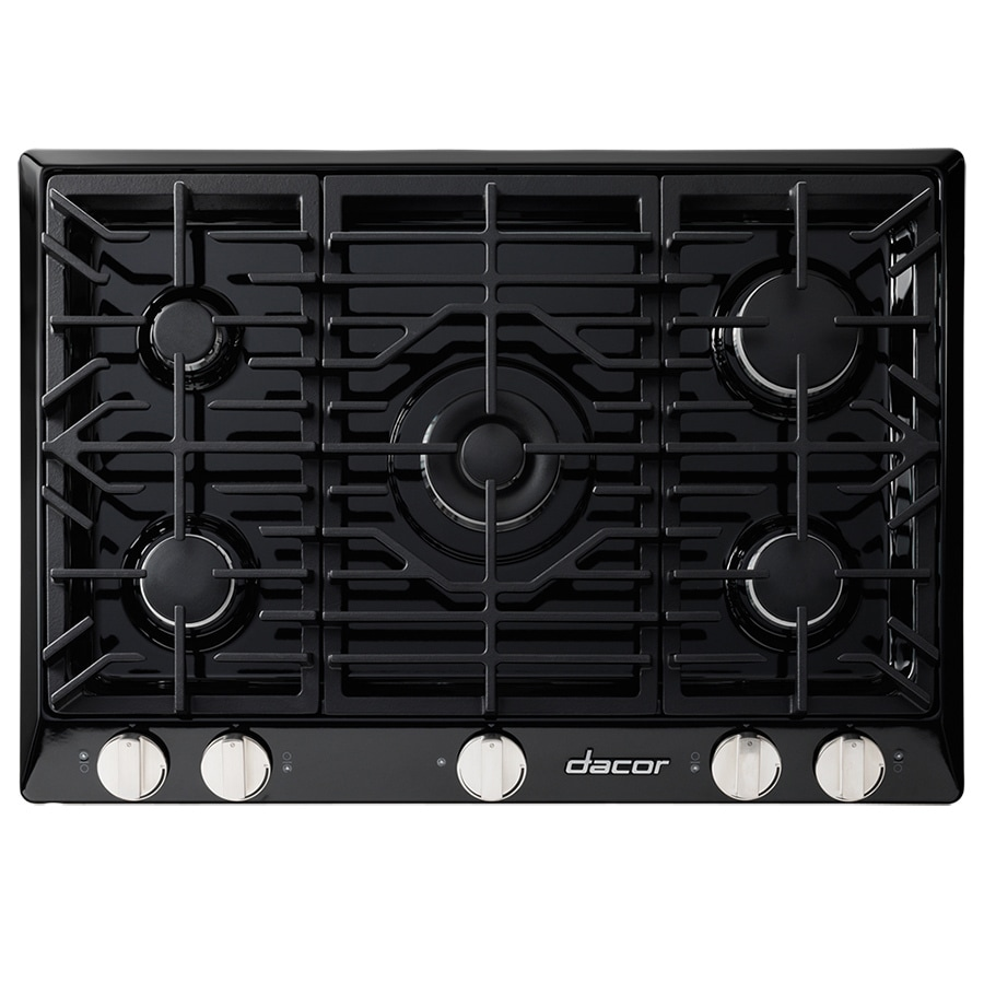 5 Burner Gas Cooktops: Dacor Renaissance 5-Burner Gas Cooktop (Black) (Common: 30