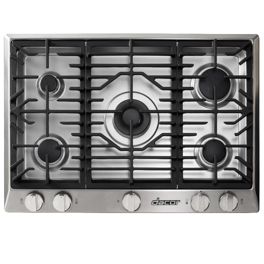 Shop dacor renaissance 5 burner gas cooktop stainless for Dacor cooktop