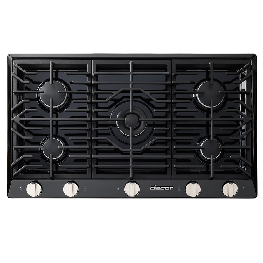 Dacor Renaissance 5-Burner Gas Cooktop (Black) (Common: 36-in; Actual: 36-in)