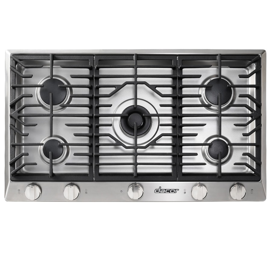 Dacor Renaissance 5-Burner Gas Cooktop (Stainless Steel) (Common: 36-in; Actual: 36-in)