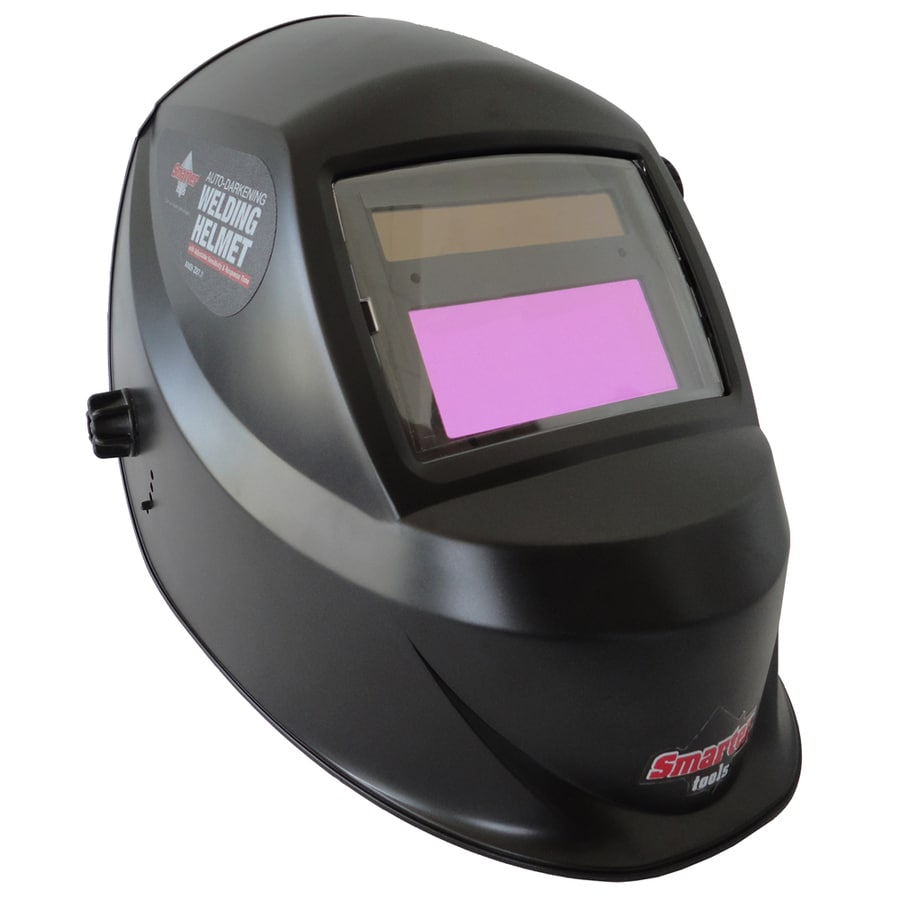 Smarter Tools Auto Darkening Variable Shade Black Welding Helmet