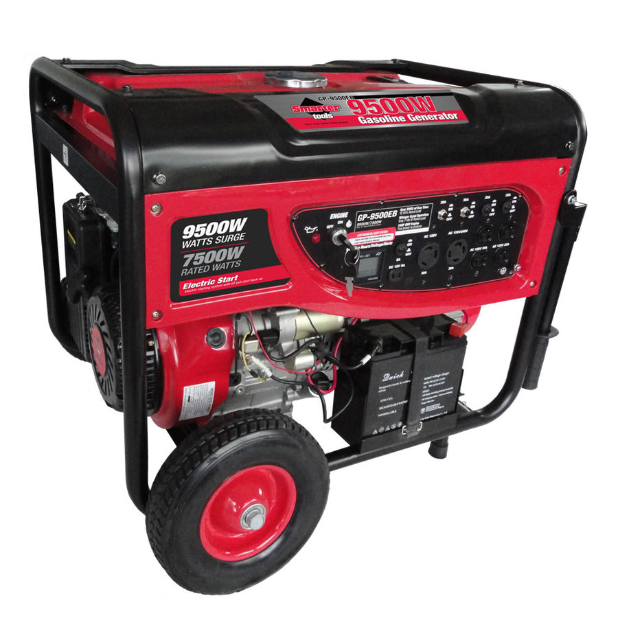 Smarter Tools GP-9500EB 7500-Running-Watt Portable Generator with Smarter Tools Engine