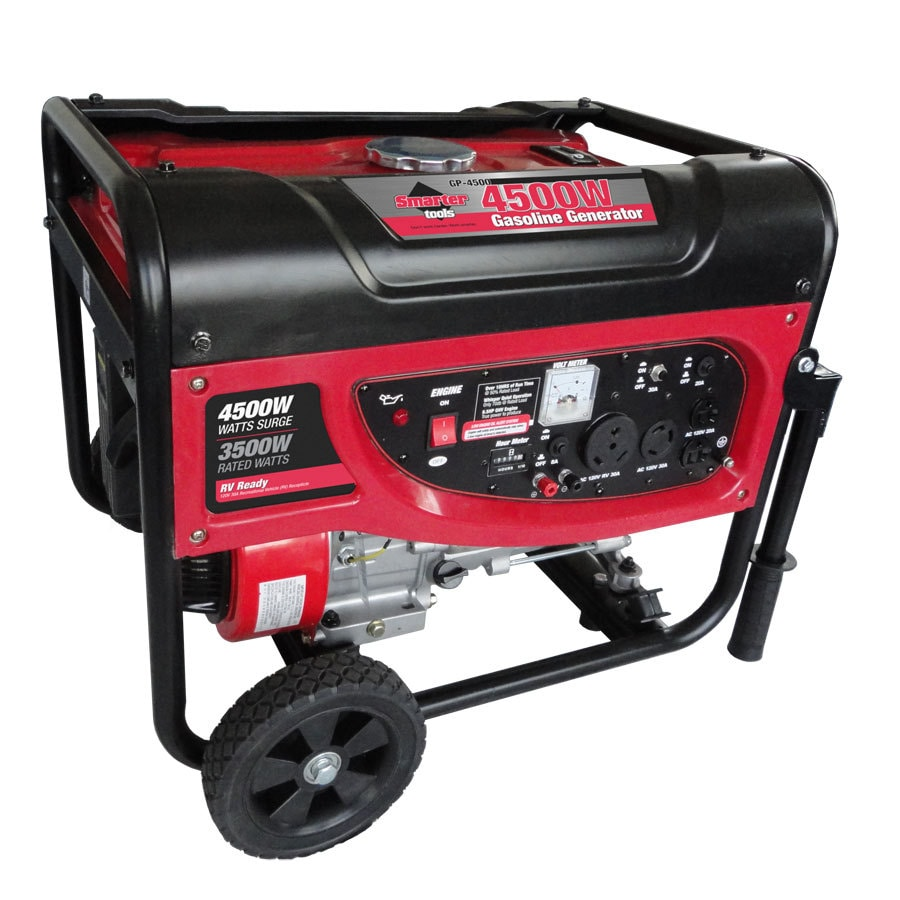Smarter Tools GP-4,500 3,500-Running-Watt Portable Generator with Smarter Tools Engine