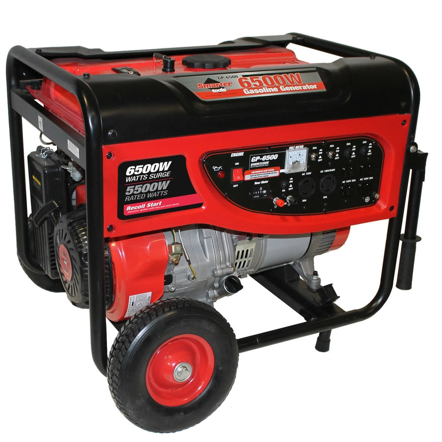 Smarter Tools GP 5,500-Running-Watt Portable Generator with Smarter Tools Engine