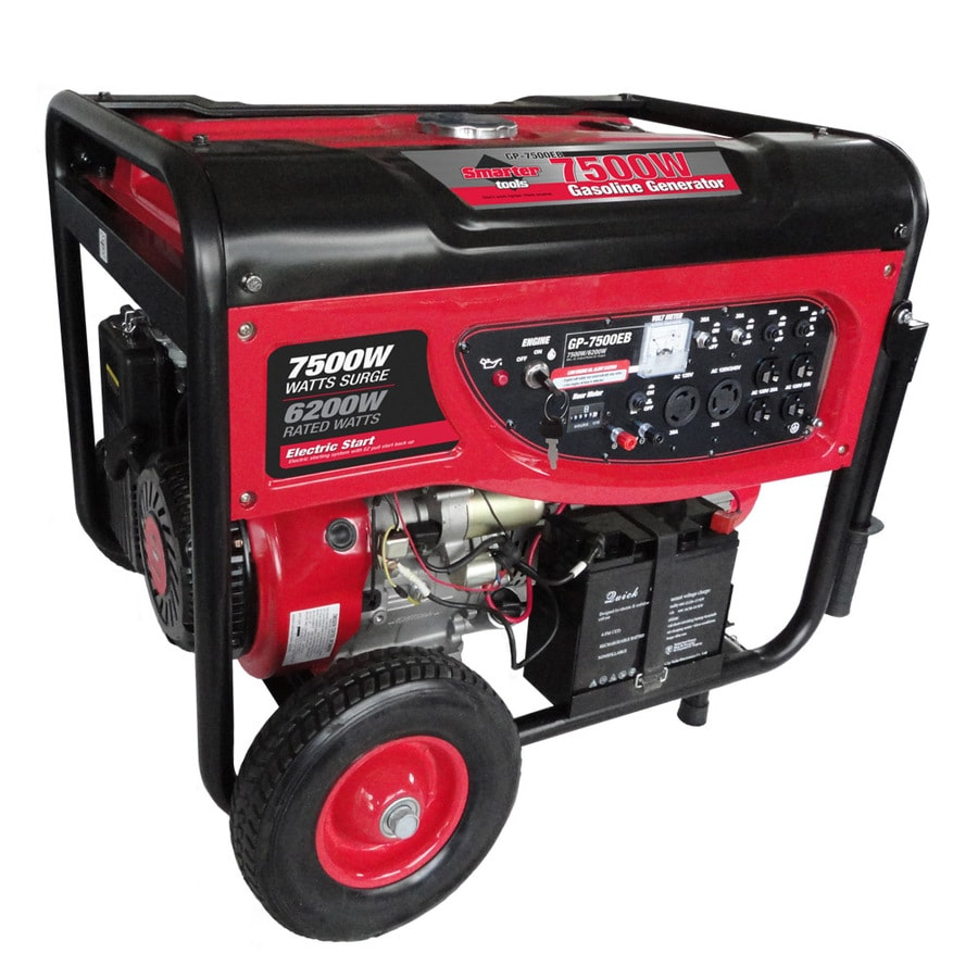 Smarter Tools GP-7500EB 6200-Running-Watt Portable Generator with Smarter Tools Engine