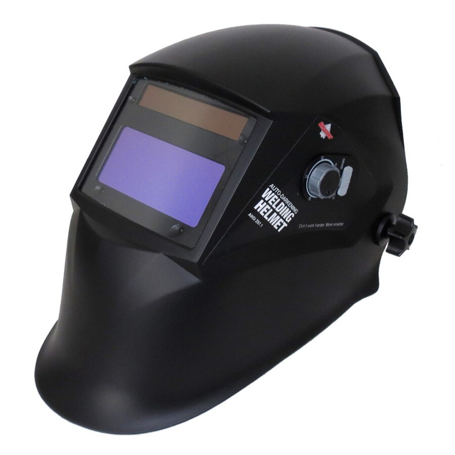 Smarter Tools Auto Darkening Variable Shade Black Gloss Welding Helmet