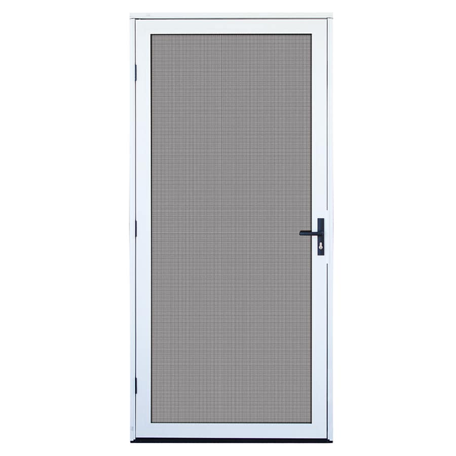 TITAN Meshtec White Aluminum Surface Mount Single Security Door (Common: 36-in x 80-in; Actual: 38.5-in x 81.6-in)