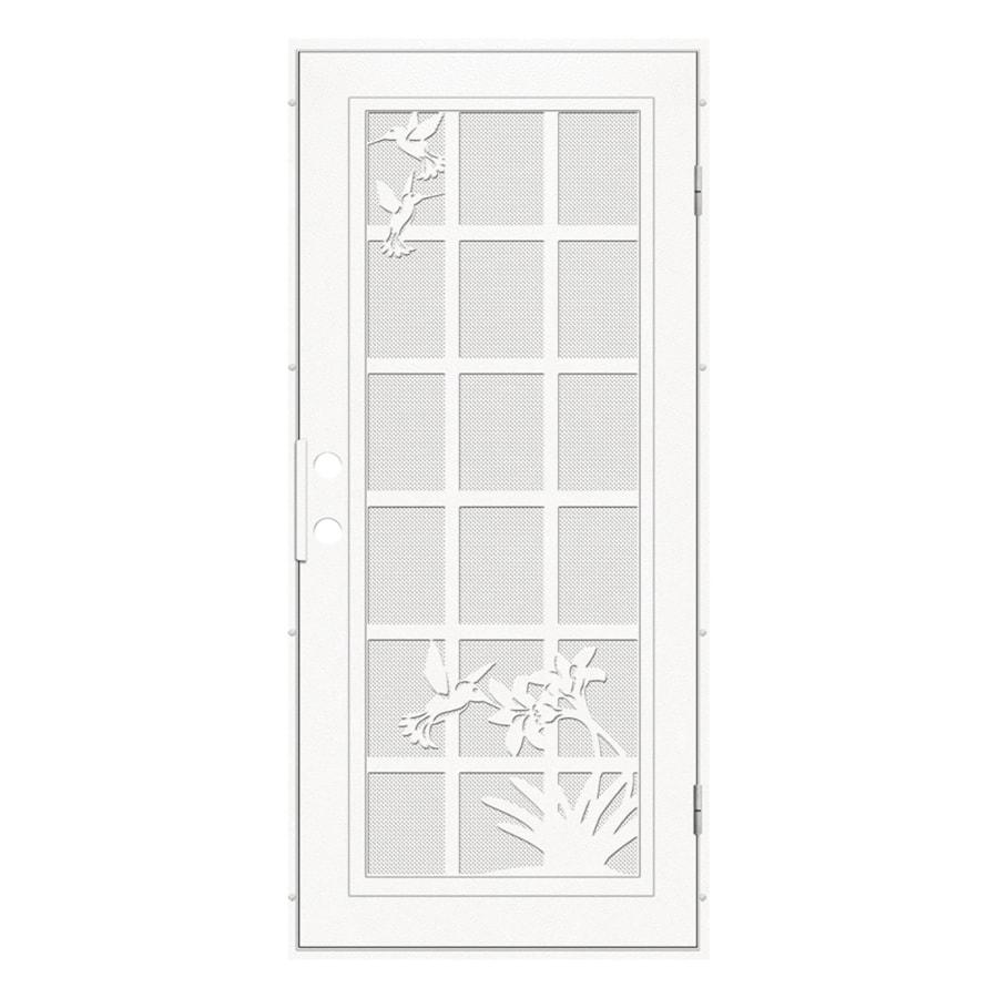 Titan Titan Security Doors Powder Coated White Aluminum
