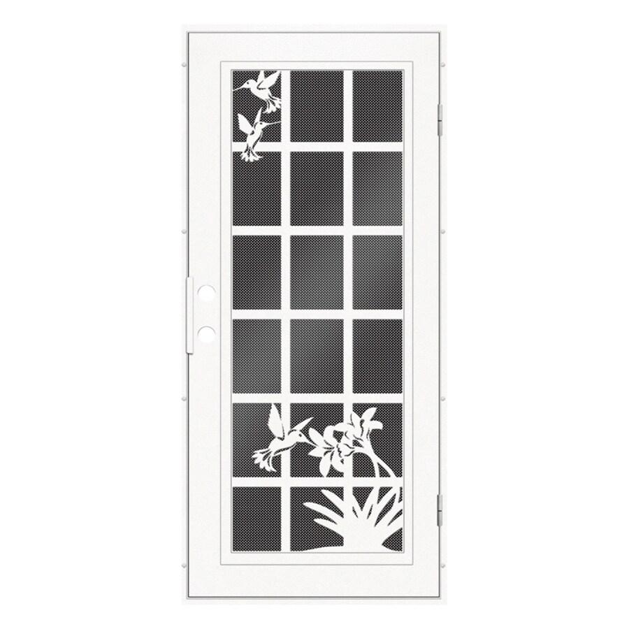 TITAN Aluminum Recessed Mount Single Security Door (Common: 36-in x 80-in; Actual: 37.5-in x 81.563-in)
