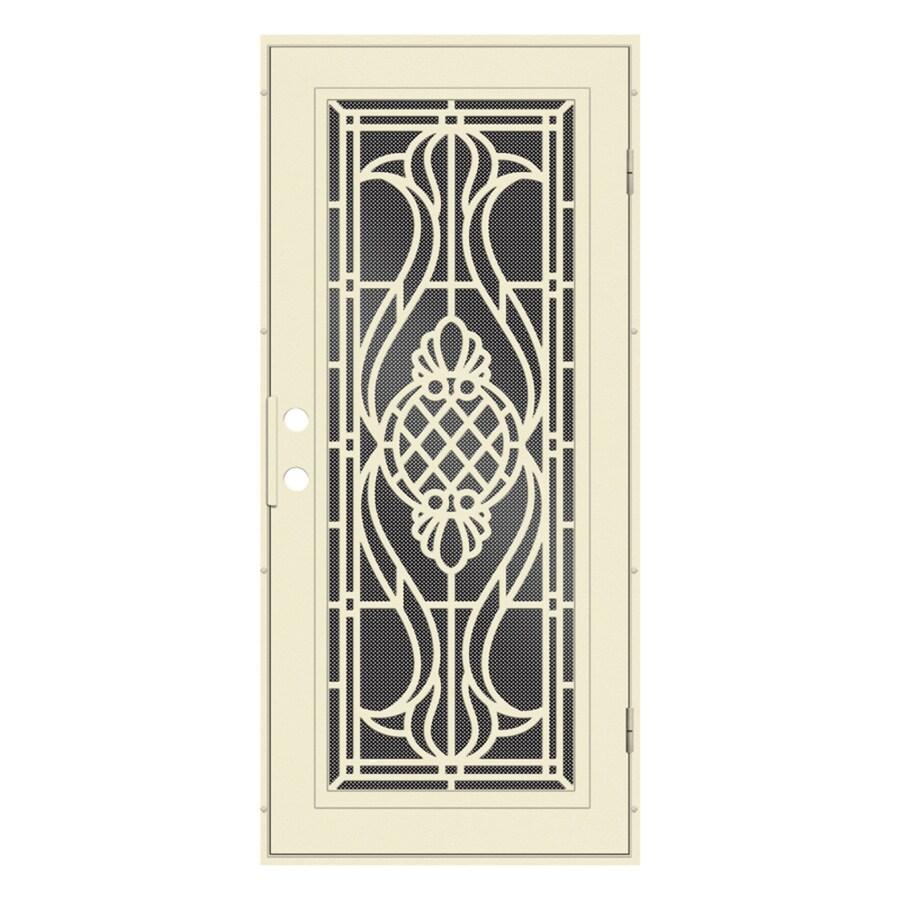 TITAN Manchester Powder Coat Beige Hammer Aluminum Surface Mount Single Security Door (Common: 36-in x 80-in; Actual: 38.5-in x 81.563-in)