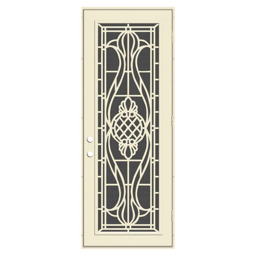 TITAN Manchester Powder-Coat Beige Hammer Aluminum Surface Mount Single Security Door (Common: 36-in x 96-in; Actual: 38.5-in x 97.563-in)