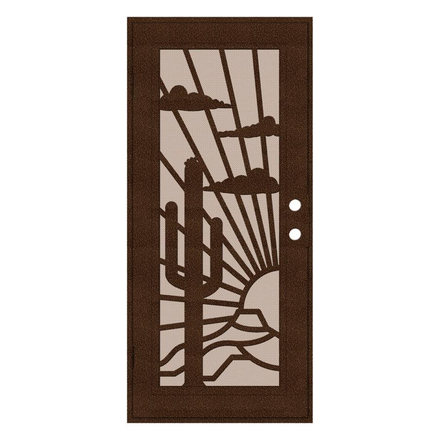 TITAN Nogales Powder-Coat Copperclad Aluminum Surface Mount Single Security Door (Common: 36-in x 80-in; Actual: 38.5-in x 81.563-in)