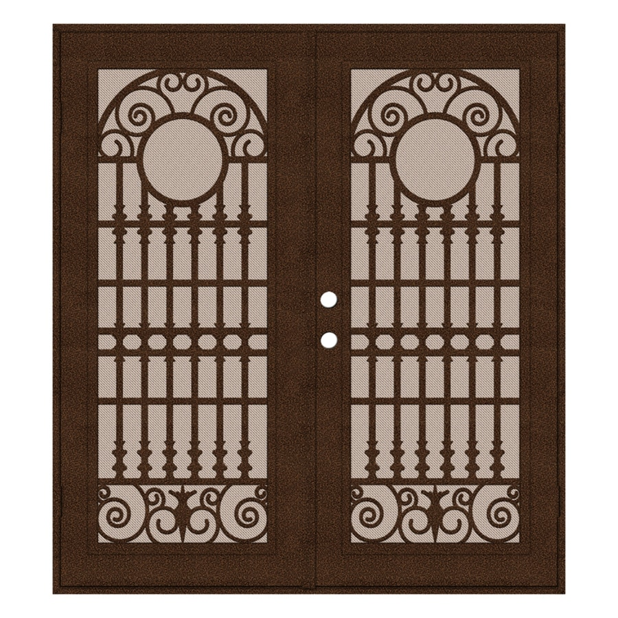 TITAN Powder-coat Copperclad Aluminum Surface Mount Double Security Door (Common: 72-in x 80-in; Actual: 74.5-in x 81.5-in)