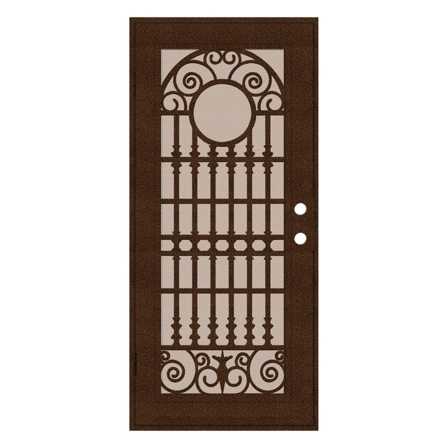 TITAN Powder-coat Copperclad Aluminum Surface Mount Single Security Door (Common: 36-in x 80-in; Actual: 38.5-in x 81.563-in)